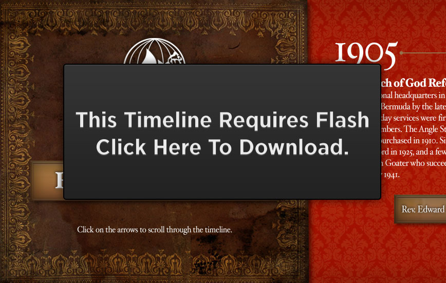 This site requires flash